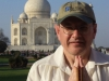 Fabrizio Poggi namastè harmonica in front of Taj Mahal - Agra, India