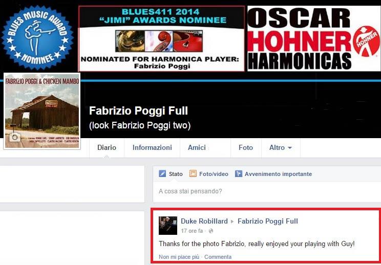 Duke Robillard quote about Fabrizio Poggi