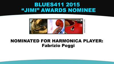 Fabrizio Poggi nominated for 2015 JIMI AWARDS as harmonica player