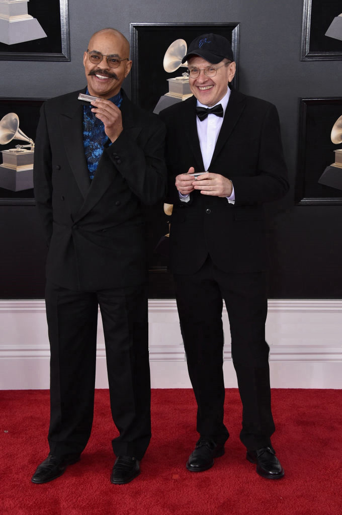 Guy Davis & Fabrizio Poggi Grammy Awards 2018 Red Carpet