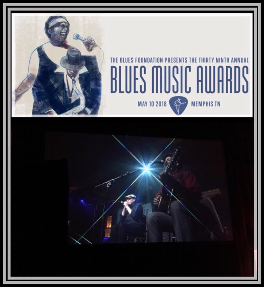 Fabrizio Poggi & Guy Davis live at the Blues Music Awards 2018 in Memphis