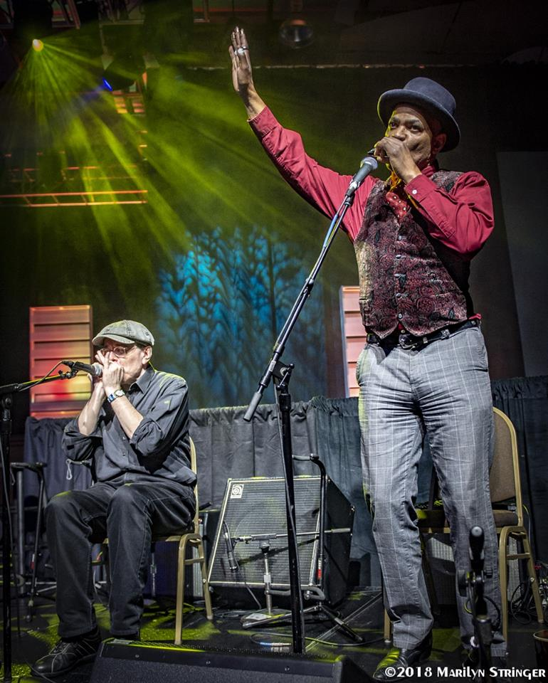 Fabrizio Poggi & Guy Davis perform at the Blues Music Awards 2018 in Memphis photo by Marilyn Stringer