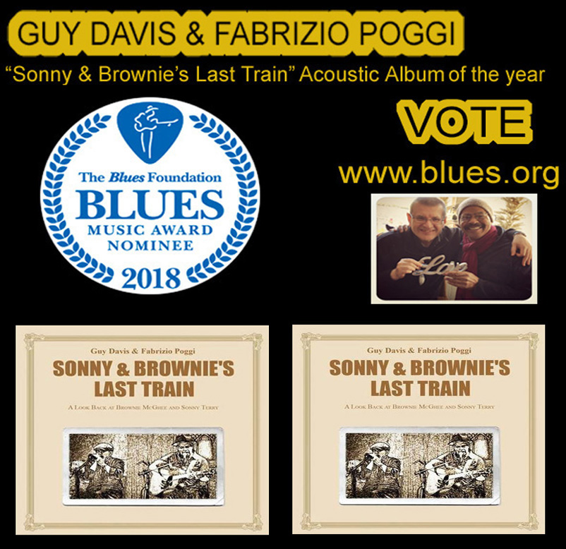 Guy Davis & Fabrizio Poggi 2018 Blues Music Awards Nominee