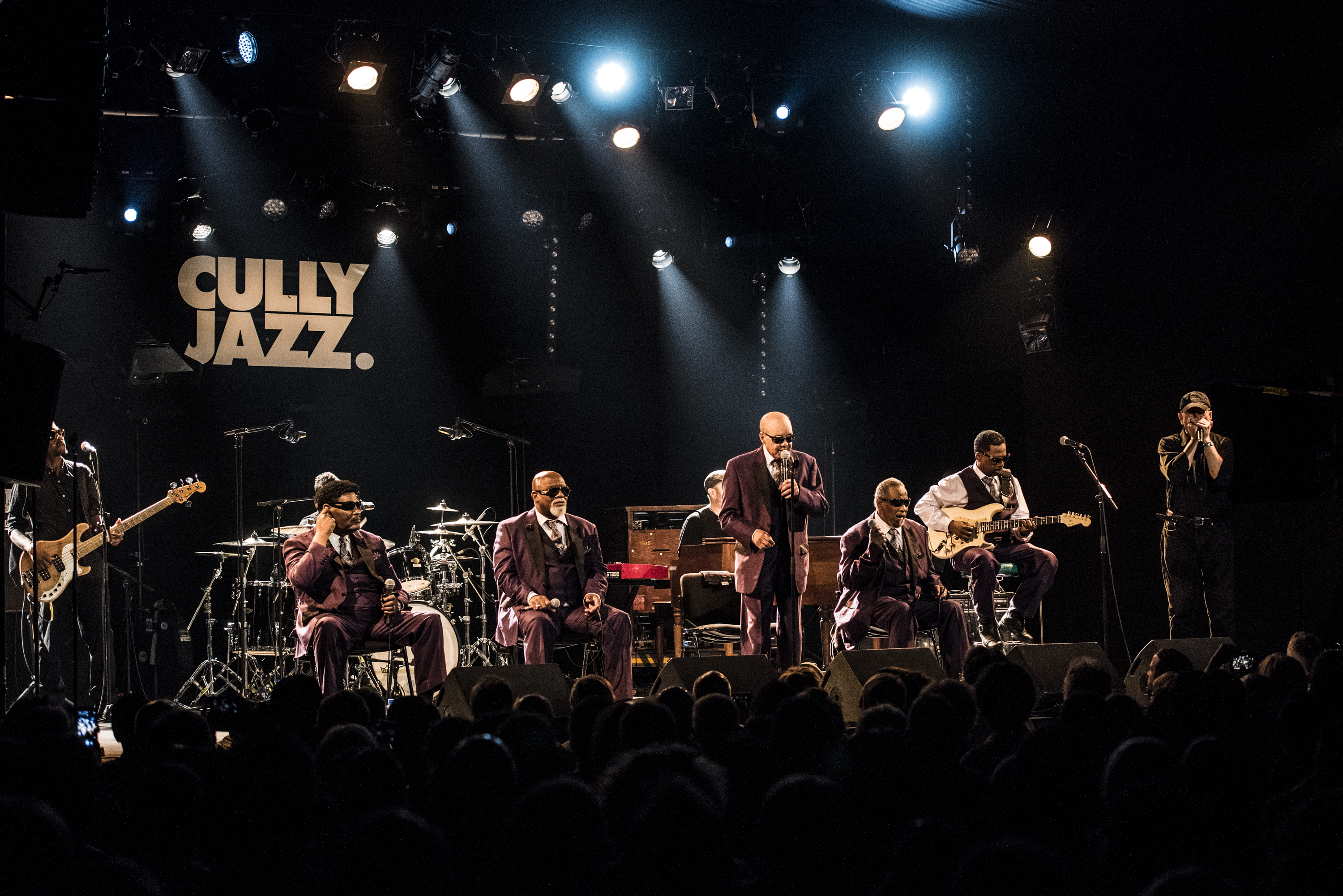 The Blind Boys of Alabama special guest Fabrizio Poggi live at the Cully Jazz Festival photo by Christophe Losberger