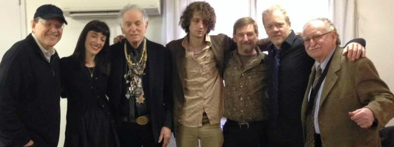 Fabrizio, Silvia, David Amram, Adam Amram, Kevin Twigg, Rene Hart and Jerry Dodgion