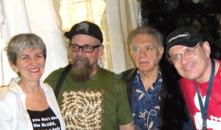 Angelina, Larry Taylor, Fito De La Parra (Canned Heat ) and Fabrizio Poggi