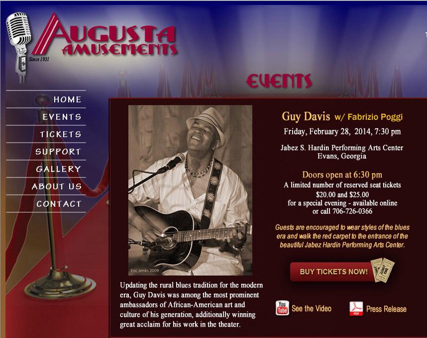 GUY DAVIS & FABRIZIO POGGI 2014 USA TOUR JABEZ SANFORD PAC Augusta, Georgia