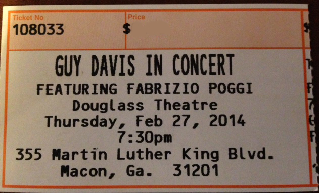 Guy Davis & Fabrizio Poggi Douglass Theatre Macon, Georgia