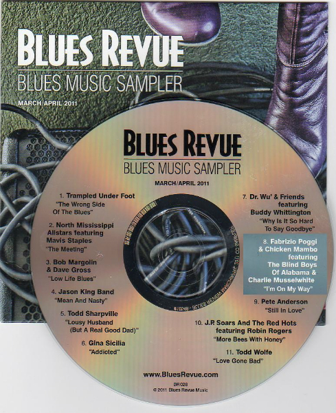 Fabrizio Poggi I\'m on my way on Blues Revue cd sampler march 2011 issue