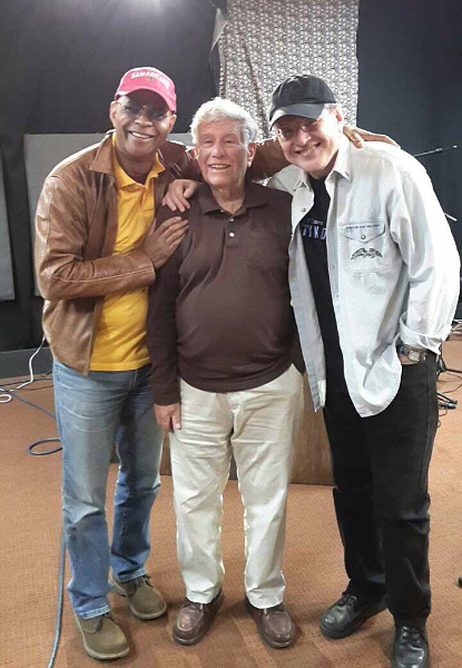Guy Davis, Bob Sherman and Fabrizio Poggi (Woody's Children radio program on WFUV)