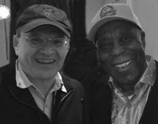 Fabrizio Poggi and Buddy Guy photo by Anthony N.