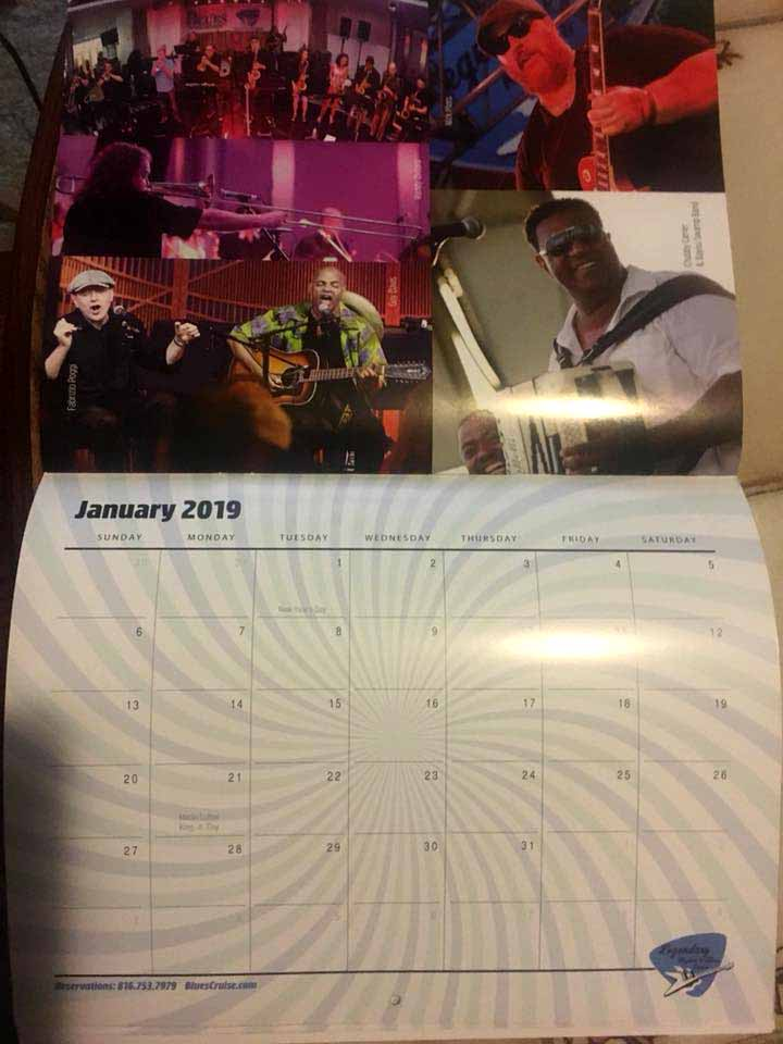 Guy Davis & Fabrizio Poggi on the 2018 Legendary Blues Cruise calendar