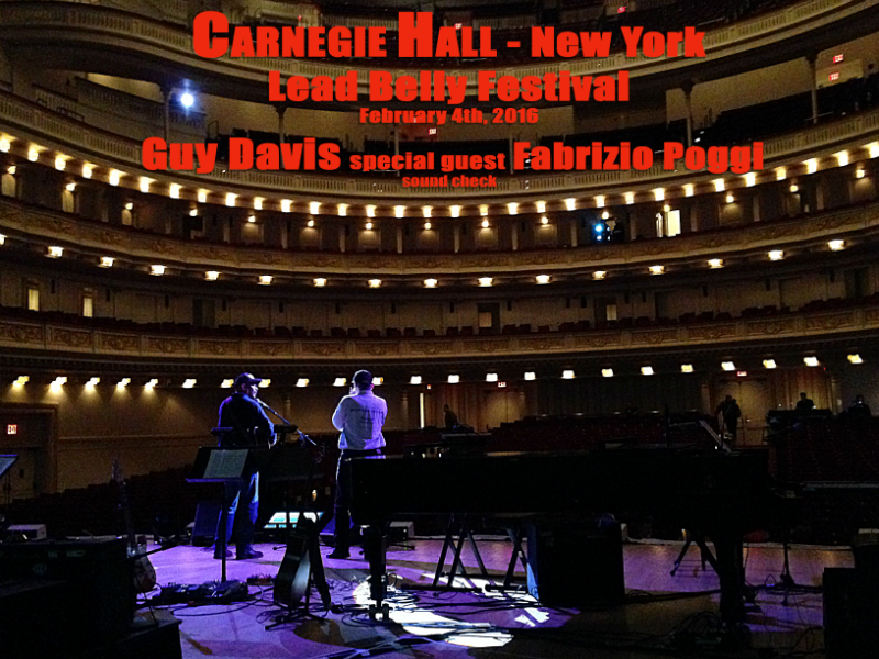 Guy Davis and Fabrizio Poggi Carnegie Hall New York Lead Belly Fest sound check