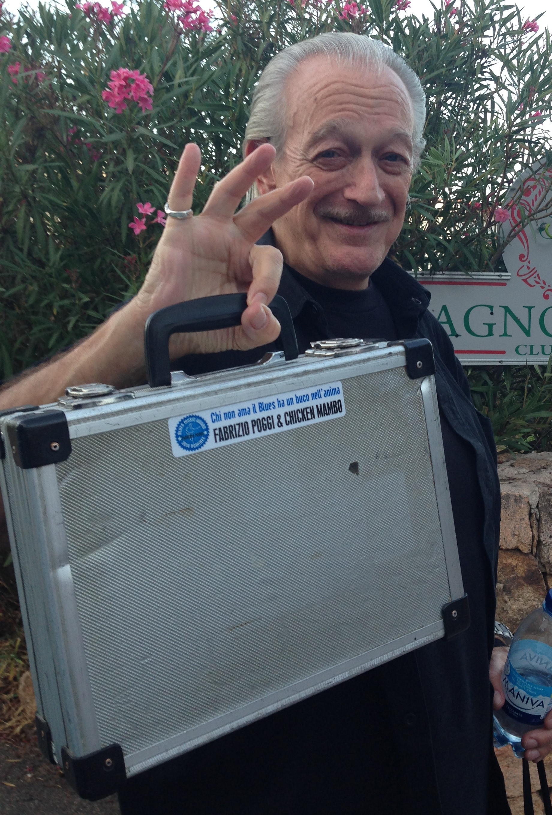 Charlie Musselwhite with the sticker