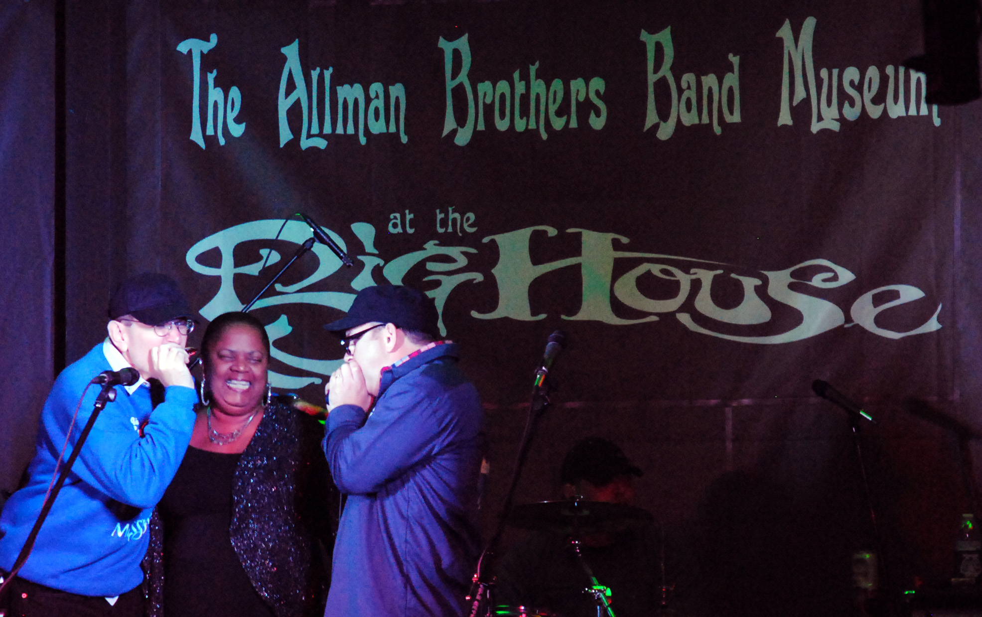 Fabrizio Poggi & Franks\' Garage band live at The Allman Brothers Big House in Macon, Georgia