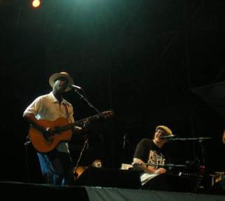 Eric Bibb and Fabrizio Poggi live at Folkest