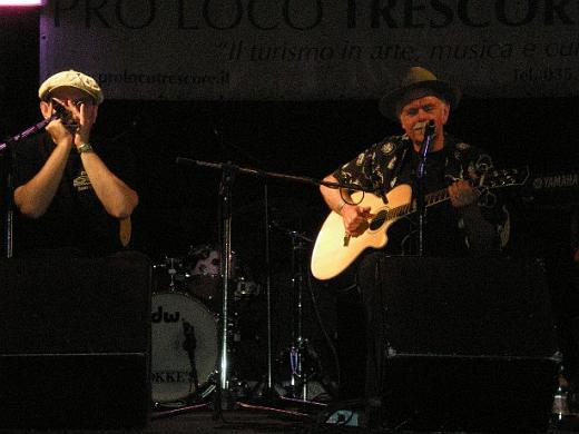 Fabrizio Poggi and Dave Peabody live