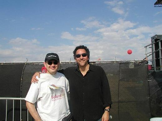 Fabrizio Poggi and Mickey Raphael (Willie Nelson\'s harmonica player)