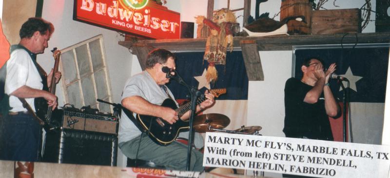 Fabrizio Poggi and Steve Mendell (Steve Ray Vaughn\' bass player) - Texas
