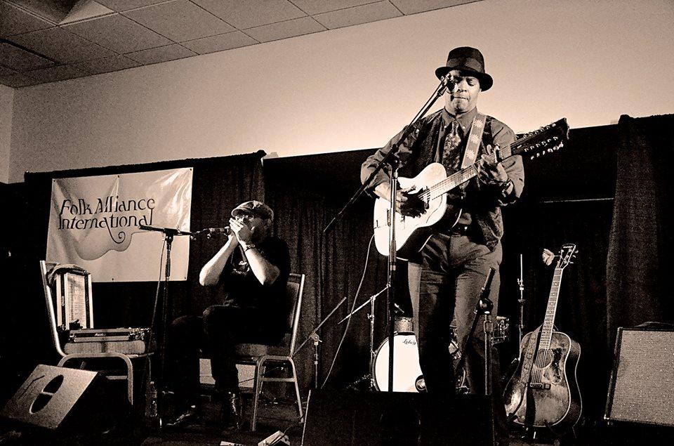 Fabrizio Poggi & Guy Davis Folk Alliance Conference 2014 Kansas City, Missouri USA