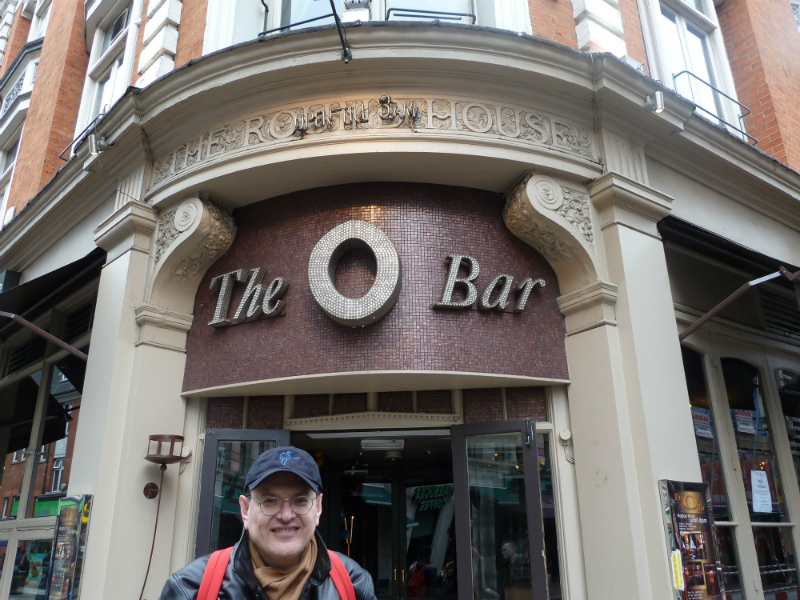 Fabrizio Poggi in front of The Round House where The British Blues Revival was born - London UK