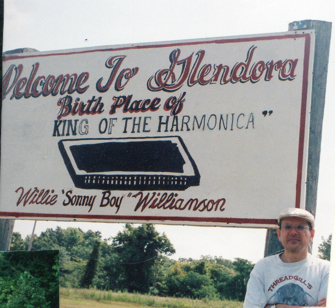 Fabrizio Poggi: Birth Place of Kinf of The Harmonica: Sonny Boy Williamson II - Glendora, Mississippi