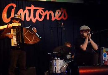 Fabrizio Poggi  live at Antone\'s Austin, TEXAS feat Ponty Bone