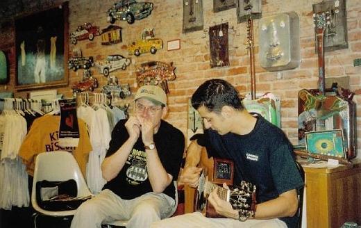 Fabrizio Poggi live at Cathead Delta Blues and Folk Art Store, Clarksdale, Mississippi