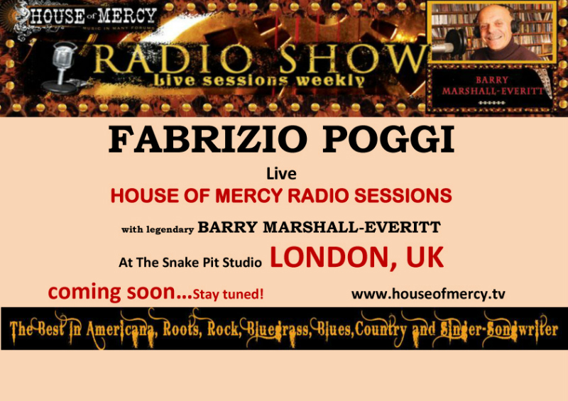 Fabrizio Poggi live at House Of Mercy Radio show London, UK