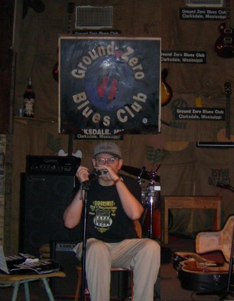 Fabrizio Poggi live at the Ground Zero - Clarksdale, Mississippi