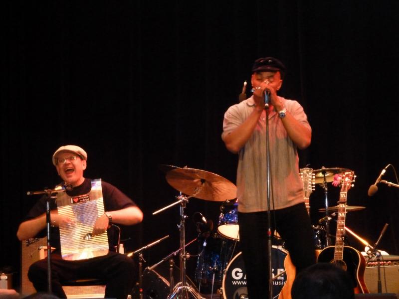 Fabrizio Poggi live with Guy Davis at Lucerne Blues Festival