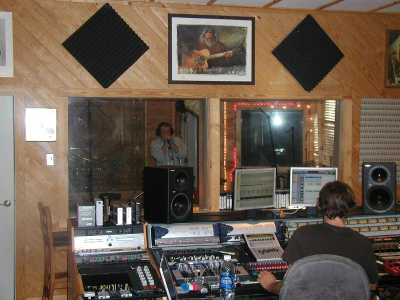 Fabrizio Poggi recording session at The Zone Recording Studio - Dripping Springs, Texas