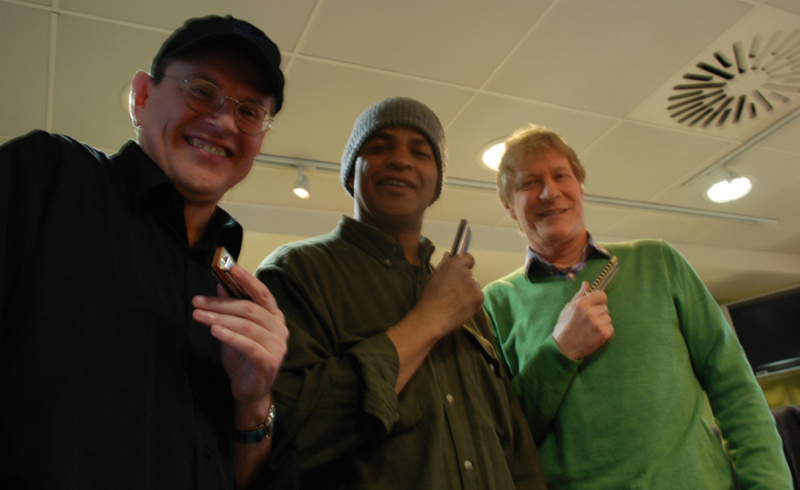 Fabrizio Poggi, Guy Davis & Paul Jones photo by Carmela DiClemente