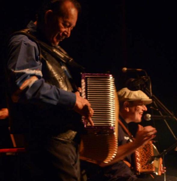 Flaco Jimenez and  Fabrizio Poggi accordions