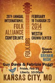 GUY DAVIS & FABRIZIO POGGI 2014 USA TOUR Folk Alliance Conference, Kansas City, Missouri