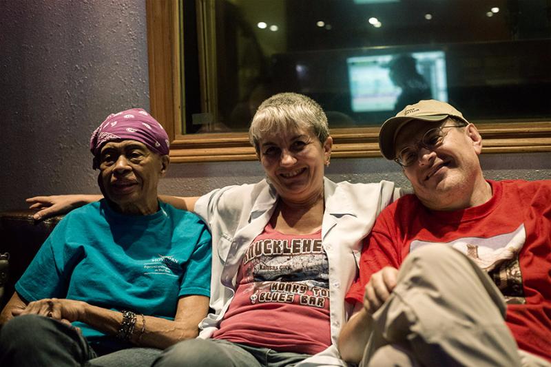 Miss Lavelle White, Angelina and Fabrizio Poggi Austin, Texas