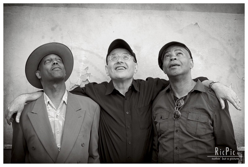 Eric Bibb, Fabrizio Poggi & Guy Davis photo by Riccardo Piccirilli Ric Pic Nothing but a picture