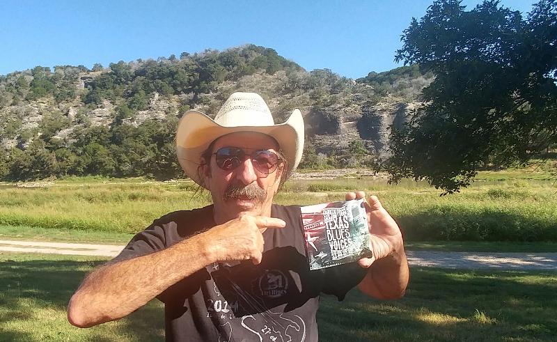 Donnie Price with Fabrizio Poggi\'s cd Texas Blues Voices