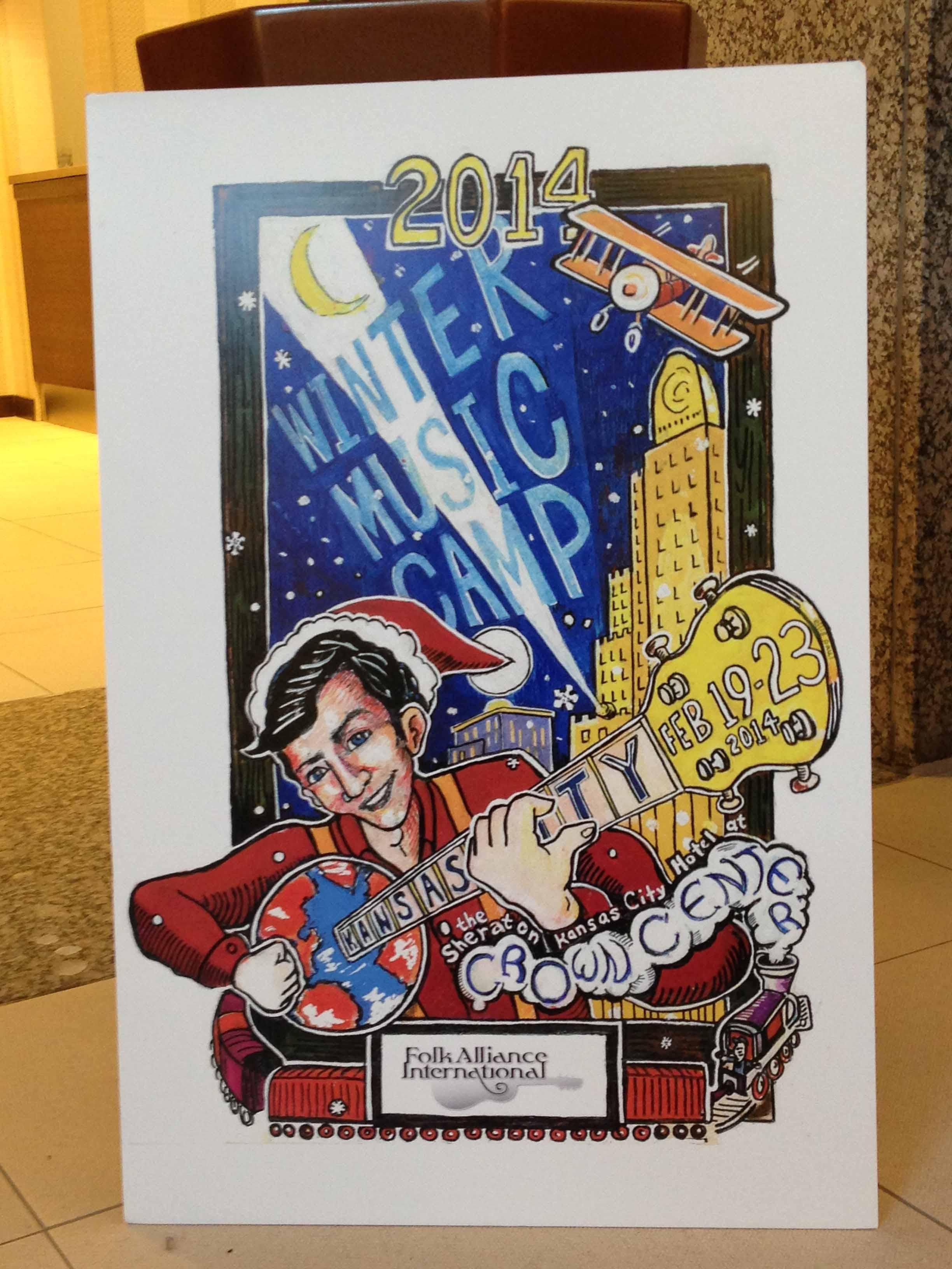 GUY DAVIS & FABRIZIO POGGI 2014 USA TOUR Folk Alliance Conference, Kansas City, Missouri
