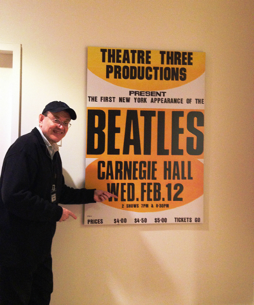 Fabrizio Poggi and The Beatles at the Carnegie Hall in New York
