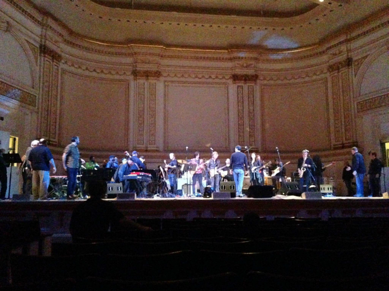 Carnegie Hall Lead Belly Fest sound check with Eric Burdon, Marky Ramone, Edgar Winter, Buddy Guy, Guy Davis, Josh White Jr. and many other and Fabrizio Poggi