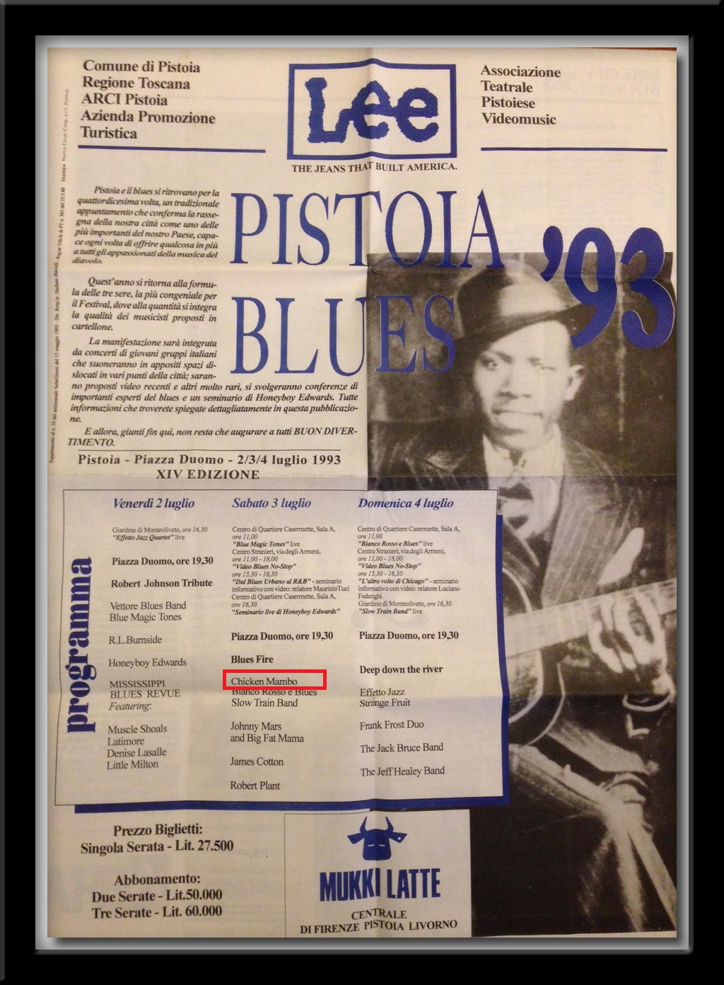 Pistoia Blues 93 program