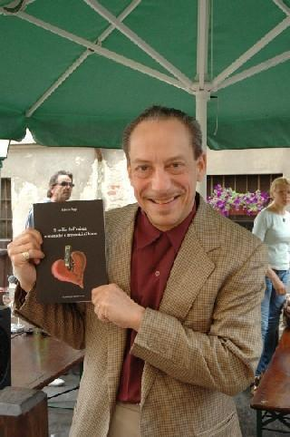 Jerry Portnoy with Fabrizio Poggi\'s book