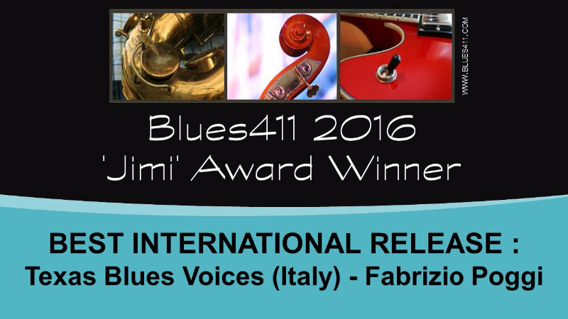 Fabrizio Poggi 2016 JIMI AWARDS winner as best international album of the year