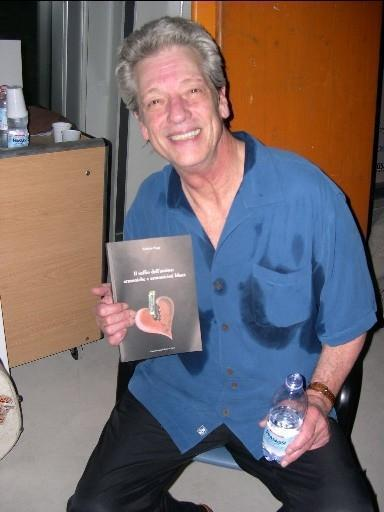 John Hammond with Fabrizio Poggi\'s book