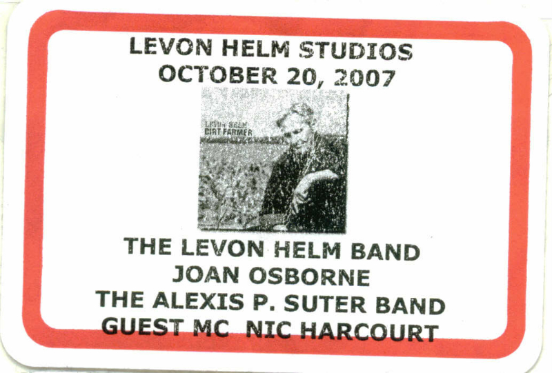 Levon Helm Midnight Ramble ticket