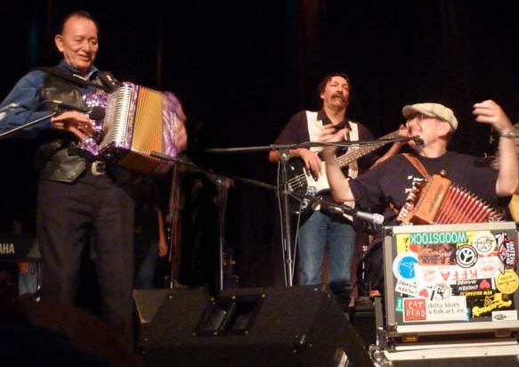 Fabrizio Poggi live in Texas with Flaco Jimenez and Donnie Price