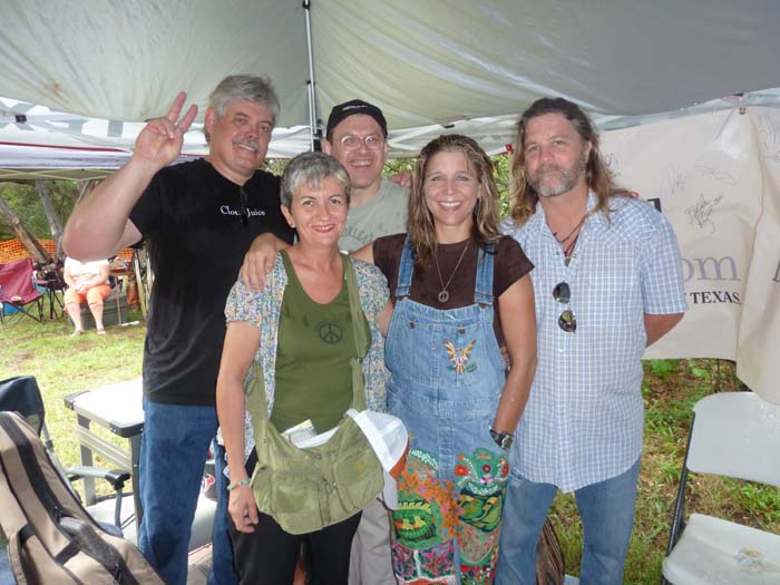Lloyd Maines, Angelina, Fabrizio, Terri Hendrix, Walt Wilkins -Canyon Lake, Texas