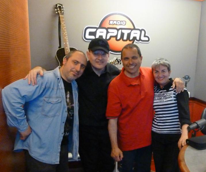 Marco De Lillis, Fabrizio Poggi, Sergio Mancinelli and Angelina Radio Capital Sentieri Notturni