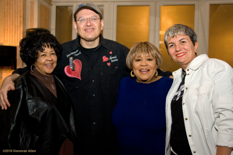 Yvonne Staples, Fabrizio Poggi, Mavis Staples, Angelina photo by Donovan Allen